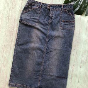 3/$30 Cato Jeans Skirt Size 16 Stretch W36 x L35
